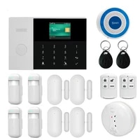 dual network wireless wifi 3g wcdma gsm gprs home alarm system app remote control with 2 4 inch lcd for smart home security