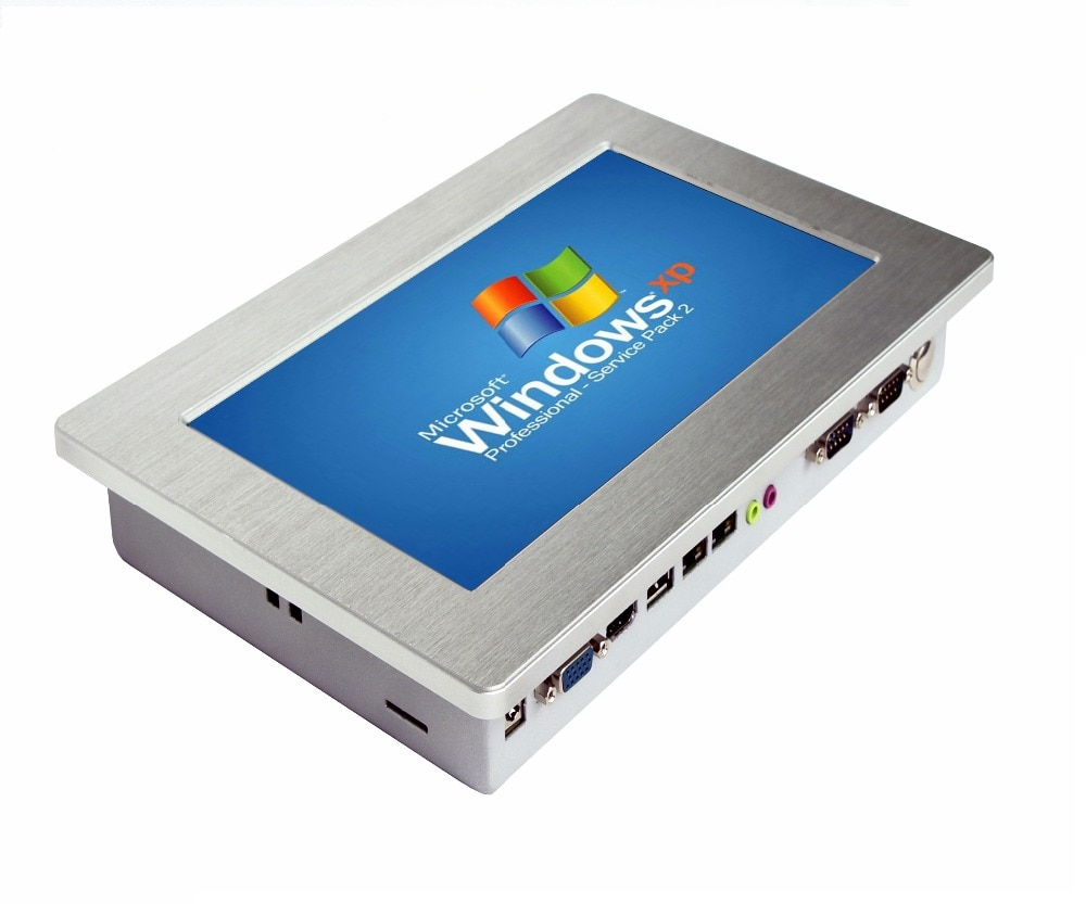 Fanless 10.1 Inch Hot sale Touch screen Industrial Panel PC All in one pc Intel Atom N2800 1.86Ghz