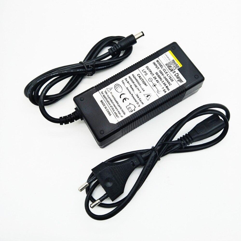 HK Liitokala 29 4 v2 литиевая батарея, электрическое зарядное устройство для велосипеда 24 В, зарядное устройство 2 RCA разъем