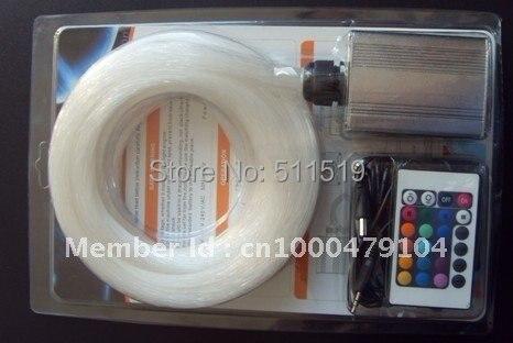 20 piezas fibra cristal diamante + 20 hebras 2,0mm PMMA kit de iluminación de fibra óptica, motor de luz LED de 1 m de largo + 5 W con mando a distancia