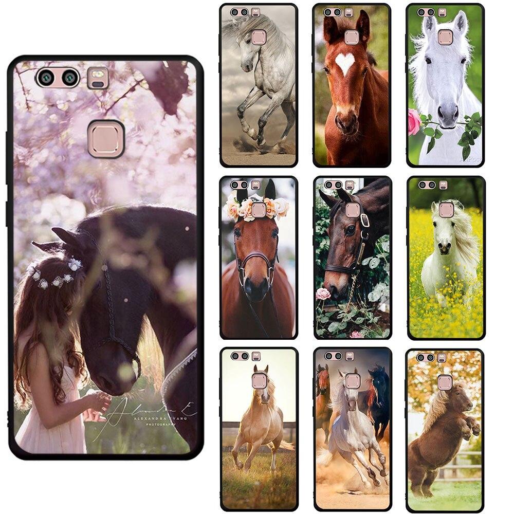 Caballo Animal impreso suave funda de teléfono para Huawei P8 P9 P10 P20 P30 P40 Mate 30 10 20 Pro Lite P Smart