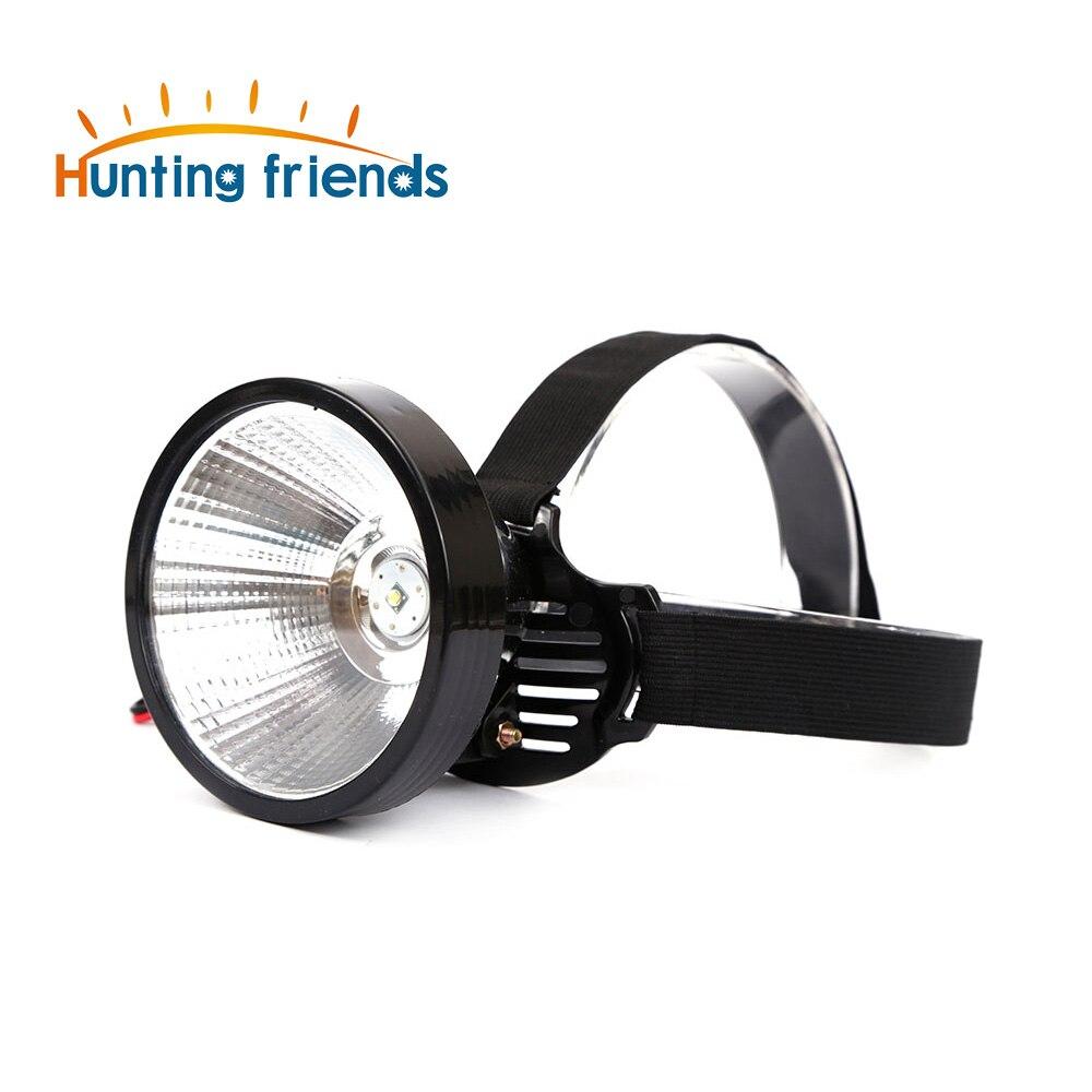 12pcs/lot 9-24V T6 LED Headlamp External DC Power Headlight Diffused Lighting Large Spot Light Lamp Head Flashlight Touch
