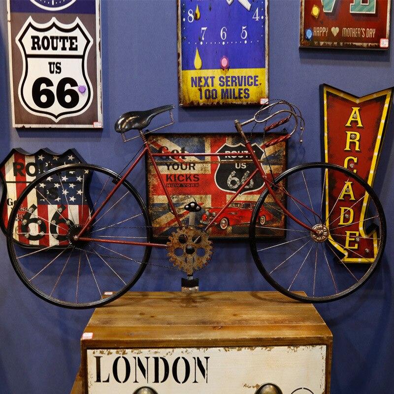 Modelo de bicicleta de hierro forjado cm 120, modelos grandes de bicicleta, adorno de ventana de adorno de metope