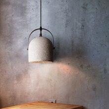Retro di Cemento da cucina luce del pendente per sala da pranzo loft Cafe Bar di illuminazione E27 lampada a sospensione casa industriale lampada a sospensione Avize