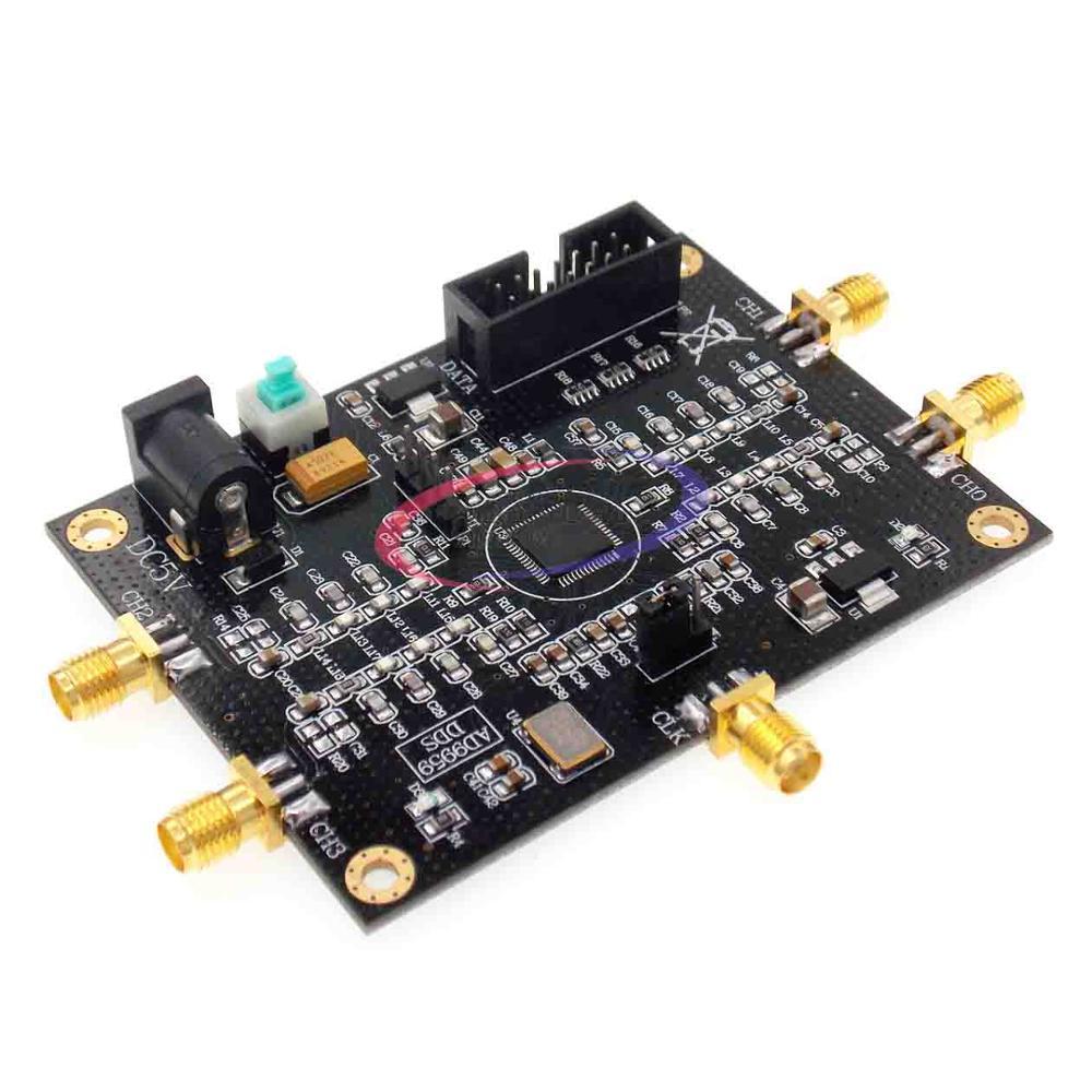Источник радиочастотного сигнала AD9959 генератор сигналов четыре канала DDS производительность модуля гораздо больше, чем AD9854 набор инструментов 81x61mm