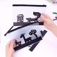 Trousse à crayons en PVC Transparent animaux sacs à crayons imperméables sacs de papeterie de haute qualité fournitures scolaires de bureau