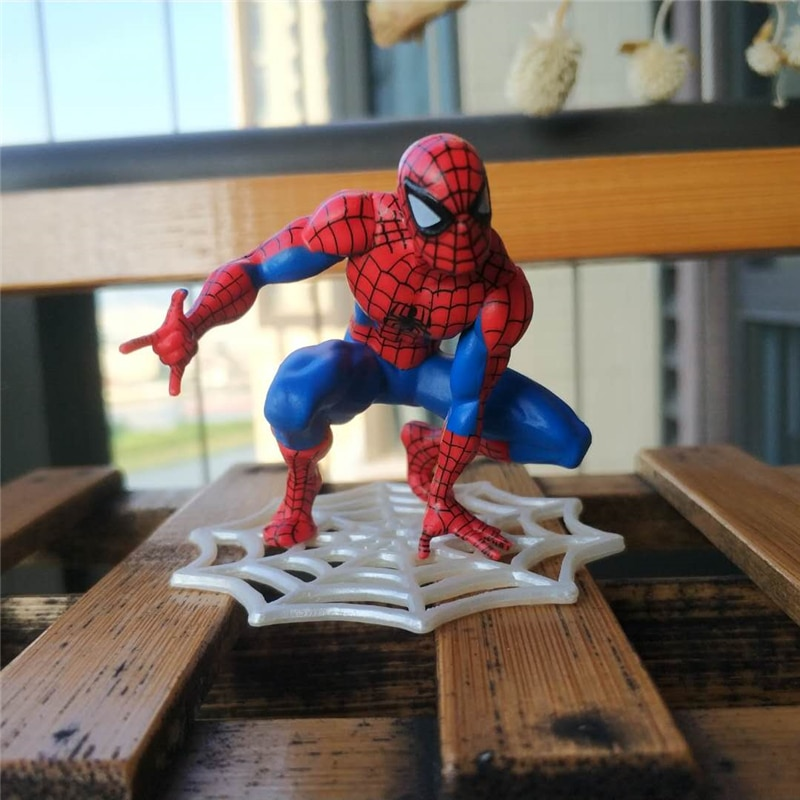 Spider-Man: figura de acción de bienvenida Mini Spiderman tela de araña decoración de coche figurita modelo muñecas niños juguetes regalos 5,5 cm
