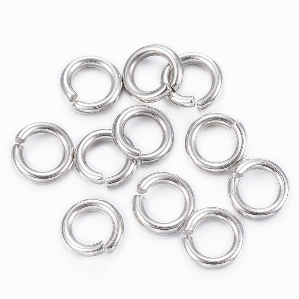 1000pcs 4 6 8mm 304 Stainless Steel Open Single Loops Jump Rings Split Ring for Jewelry Making DIY Findings 1 box 4 5 6 7 8 10mm jewelry findings open jump split rings connector for diy jewelry findings making rhodium gold silver color