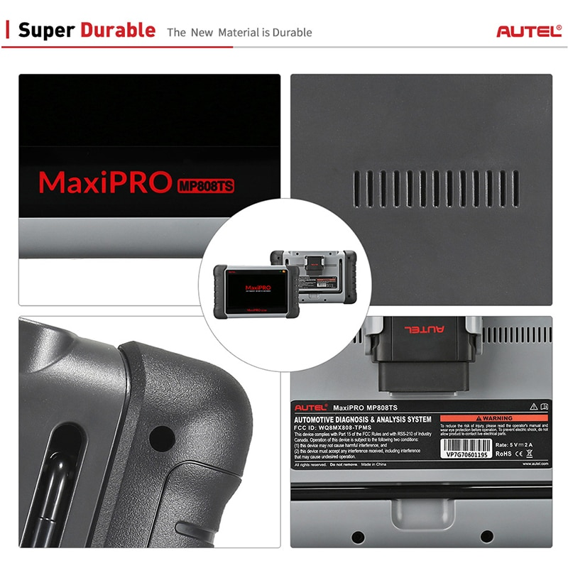 Autel MaxiPRO MP808TS Professional AutoDiagnostic Tool Scanner TPMS Oil Reset EPB BMS SAS DPF IMMO As DS808 + TS601 PK MK808