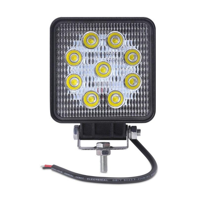 27W LED Scheinwerfer Arbeit Licht Für SUV ATVS 4WD Sand Schiene Anhänger 6500K IP67 Wasserdichte Aluminium Gehäuse Auto fahrzeug Arbeit Lampe