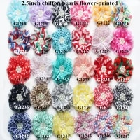 45 pcs lot   2 5 shabby flowers with pearl centre   pearl flowers headband