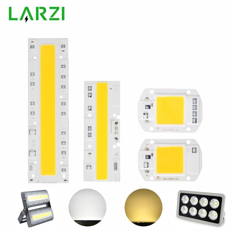 LARZI COB светодиодные лампы Чип 110 В 220 В 10 Вт 20 Вт 30 Вт 50 Вт 70 Вт 100 Вт 120 Вт 150 Вт вход Смарт IC без драйвера Светодиодные лампы прожектор