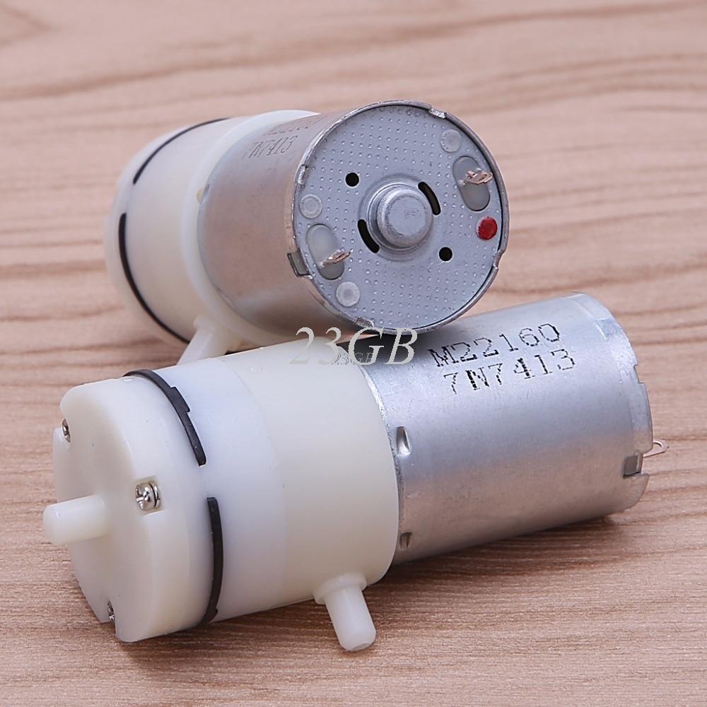 Bomba de ar a vácuo do motor micro dc 3 v-6 v 5 v 370 para aquário tanque oxigênio mini 2 pçs/set jun23_25