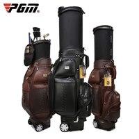 pgm profession golf telescopic standard bag tugball bag durable hard shell multifunctional ball pack microfiber leather
