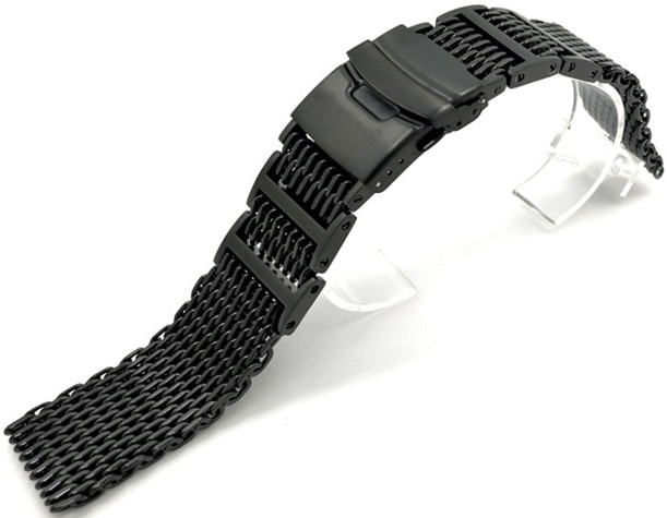 Wholesale 10PCS/lot 20mm 22mm 24mm 304 Stainless Steel Watch bands watch straps black and silver color available -WBS421 enlarge