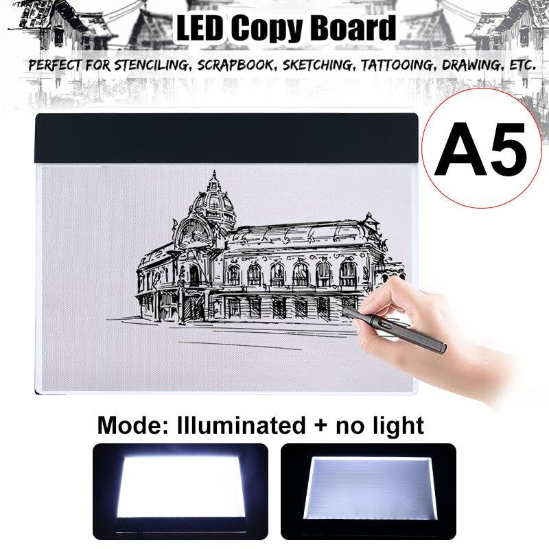 Caja de luz LED, tableta Digital Tracer, tableta gráfica, escritura, pintura, dibujo, ultrafino, trazador, copia, tablero, dibujo artístico
