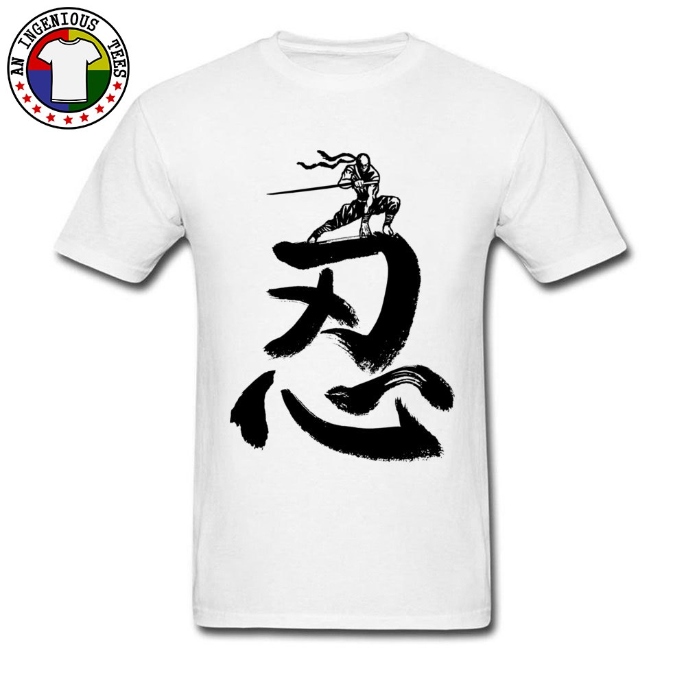 Cool Shinobi Ninja camiseta blanca 100% algodón para hombre Camiseta Otoño Invierno cómoda camiseta moda camisetas envío gratis