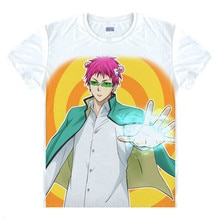 Japoński manga katastrofalne życie Saiki K koszulki anime koszula Saiki Kusuo supermocarstwa T shirt PK liceum Tee koszula