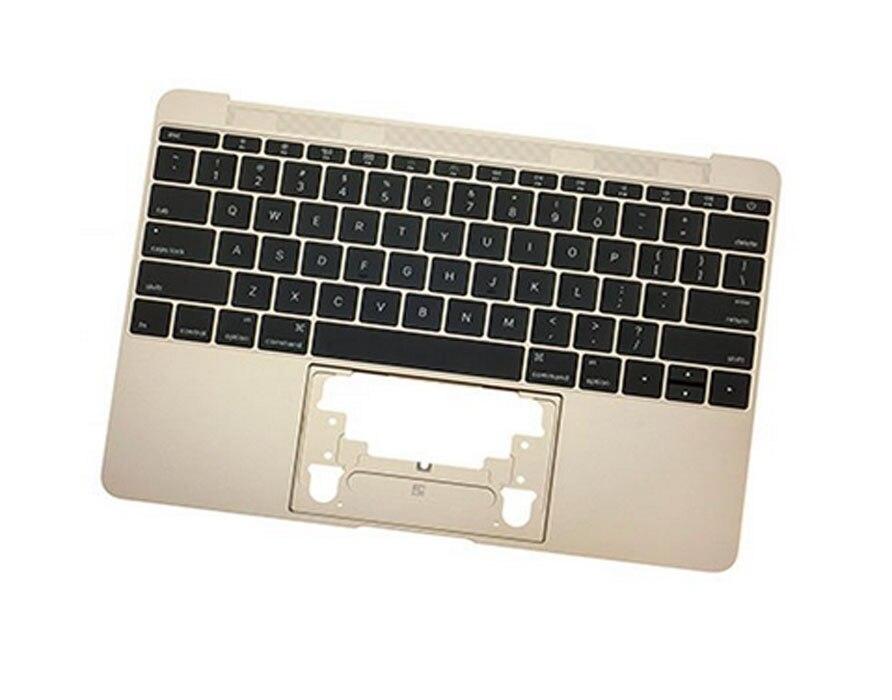 Oro nuevo Topcase para Macbook Retina 12 pulgadas A1534 cubierta superior Palmrest con teclado inglés de EE. UU. Temprano 2015