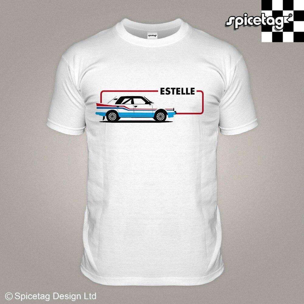 Эстель 80S ралли футболка с изображением автомобиля Ретро Чешский Гонки быстрого