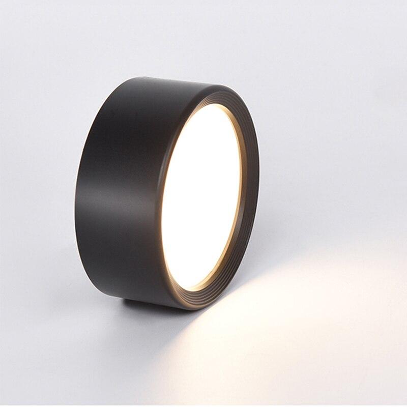 Nicht Öffnung Ultra-dünne Moderne Decke Lichter Lampe Led Decke Indoor Hause 3 W/5 W/7 w/9 W Led Spot Licht Schwarz Weiß Leuchten