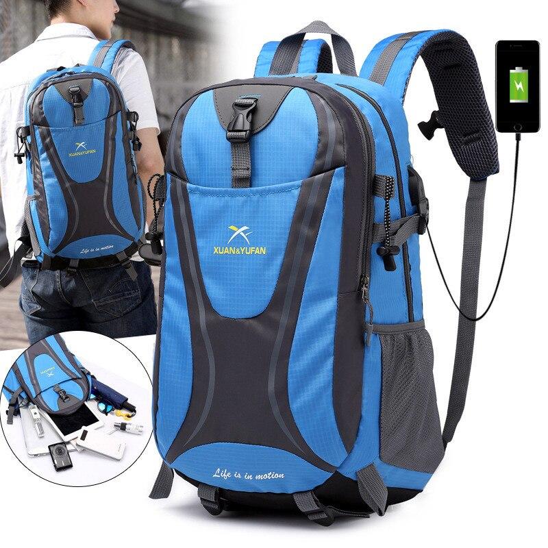 Mochila para montar a prueba de lluvia de 30l, mochila, mochila para Ciclismo de Carretera de montaña, Mochila deportiva con interfaz USB