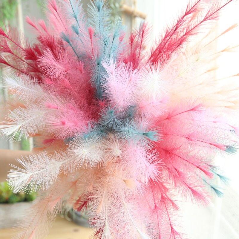 2pcs 6Colors 77cm PE Decorative Grass Artificial Flower Green Plant DIY Wedding Decoration Bouquet