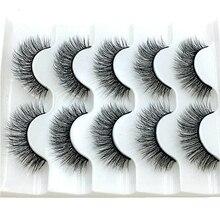 2021 NEW 2/5 pairs Mink Eyelashes 3D False lashes Thick Crisscross Makeup Eyelash Extension Natural