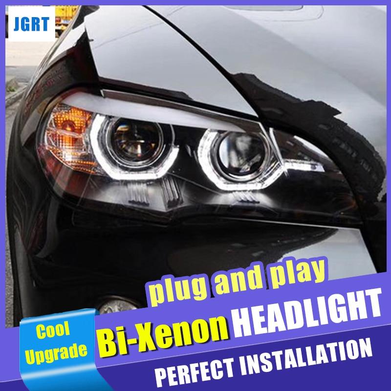 Nuevo estilo de coche para BMW X5 E70 faros 2007-2013 para BMW X5 faro delantero LED DRL de doble haz HID lente de xenón bi Xenon