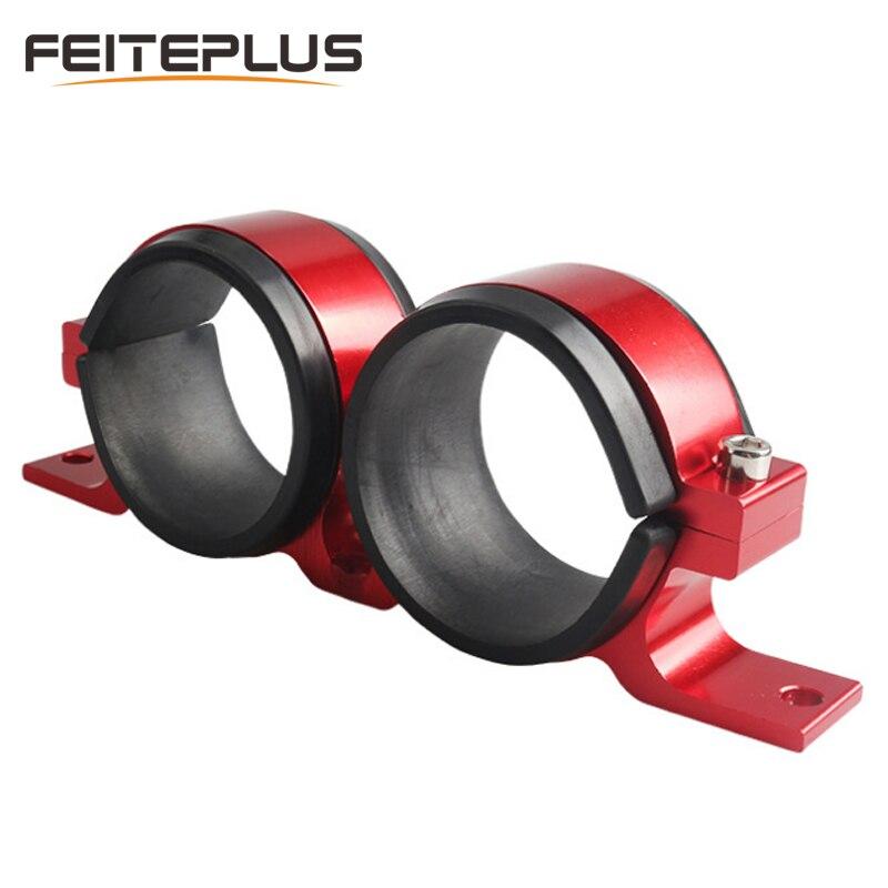 60mm de aluminio abrazadera de montaje de bomba de combustible filtro doble abrazadera cuna doble filtro de la bomba de combustible soporte de montaje abrazadera