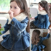 Kindstraum 2019 New Children Spring Denim Jackets Brand Girls Shrink Waist Clothes Fashion Autumn Soft Outwear for Kids,RC1179
