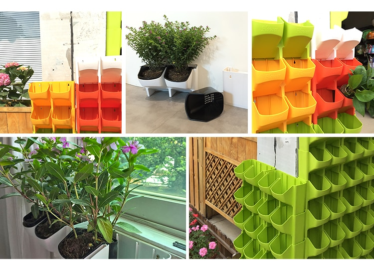 NEW IndoOutdoor Vertical Gardening Flower Pot and Planter Hanging Pots Plant On wall