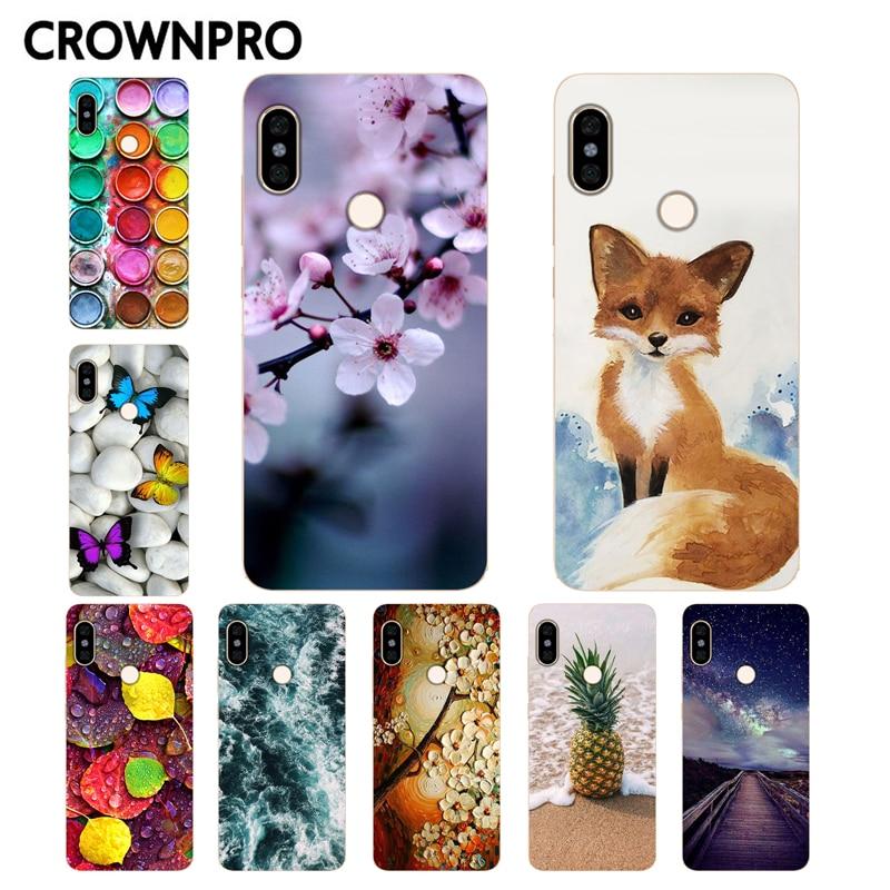 CROWNPRO pour Funda Xiaomi Redmi Note 5 housse téléphone Redmi Note 5 Pro Coque Silicone souple Coque globale Redmi Note 5