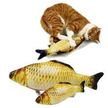 Pet miękkie pluszowy kreatywny karp 3d w kształcie ryby zabawka dla kota prezenty kocimiętka ryba wypchana poduszka lalka sztuczna ryba zabawka dla zwierzaka