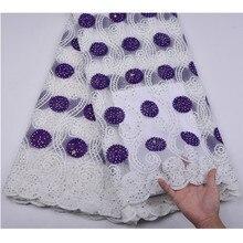Filet en dentelle africaine pour femmes   Filet de tissu en dentelle, Tulle français 2018 avec pierres, robe en dentelle nigériane pour femmes A1256