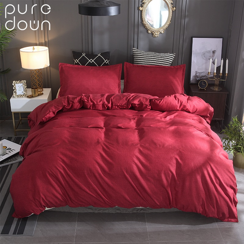 Juego de ropa de cama Puredown sin sábana tamaño King Queen 100% de poliéster de 6 pies de impresión reactiva para dormitorio