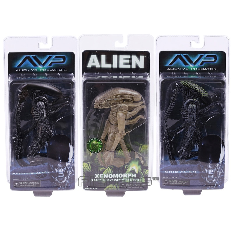 Neca alienígena vs predador xenomorph guerreiro grade alienígena pvc figura de ação collectible modelo brinquedo