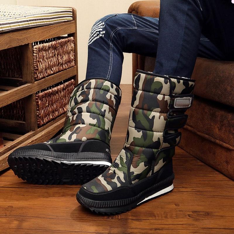 Nouveau hommes bottines imperméable hommes bottes de neige hiver en plein air fourrure chaud Mans Boot mode travail chaussures hommes chaussures unisexe taille 36-46
