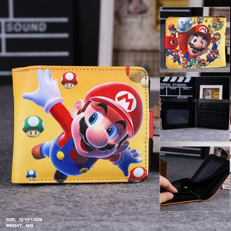 Cartoon Super Mario Pokemon Go Kumamon Wallet  Pu Leather Purse Game Wallet Carteira Magica FOR Anime Fans Wallets