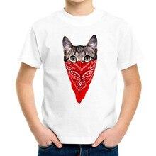 Joyonly T-shirt enfants   2019 T Shirt dessin animé T Shirt bébé chat masqué T-shirt enfants T-shirt garçons/filles