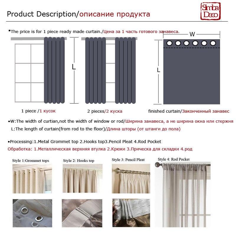 Купить с кэшбэком Luxury Elegant Geometric Modern Curtains for Living Room Kitchen Drapes Darkening Silk Golden Window Treatments Single Panel