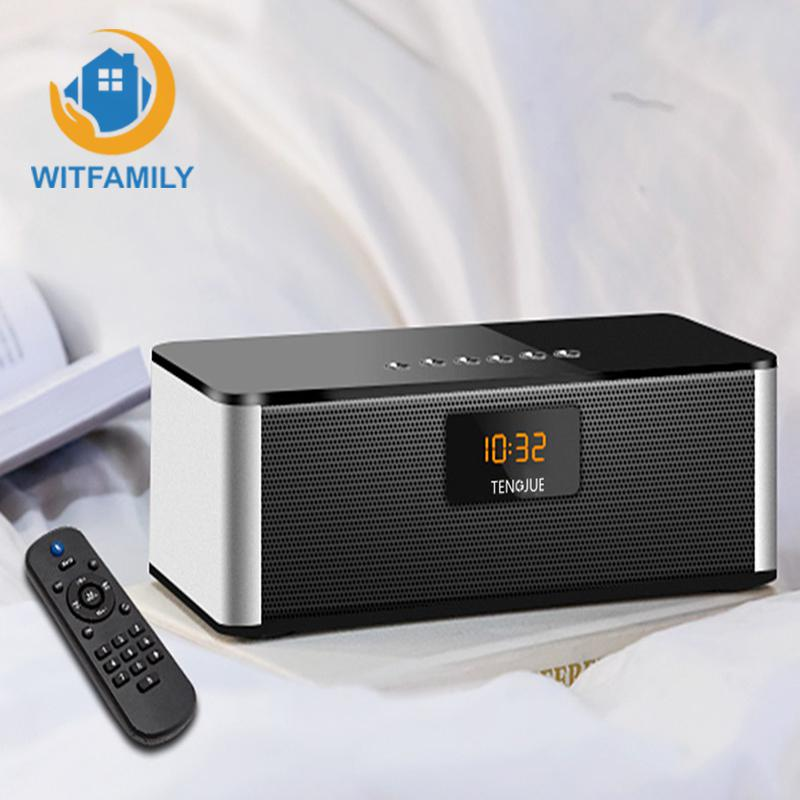 Беспроводной bluetooth динамик будильник с пультом дистанционного управления FM Радио цифровые часы микрофон Функция украшения спальни