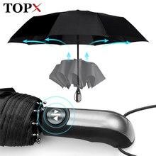 Résistant au vent entièrement automatique parapluie pluie femmes pour hommes 3 pliant cadeau Parasol Compact grand voyage entreprise voiture 10K parapluie