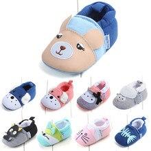 Chaussures antidérapantes pour bébés filles et garçons   Chaussures de premiers marcheurs pour enfants, chaussures de berceau à semelle souple, de dessin animé danimaux, nouveau-né