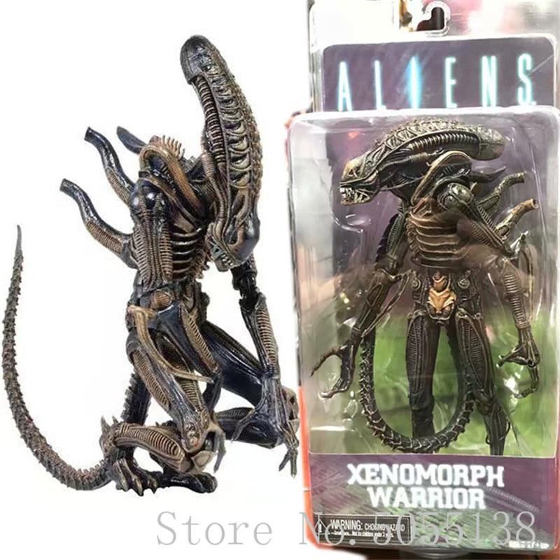 "Aliens 9"" Defiance Xenomorph Warrior Action Figure Yellow First Lineup NECA Alien Series 1 Collectible"