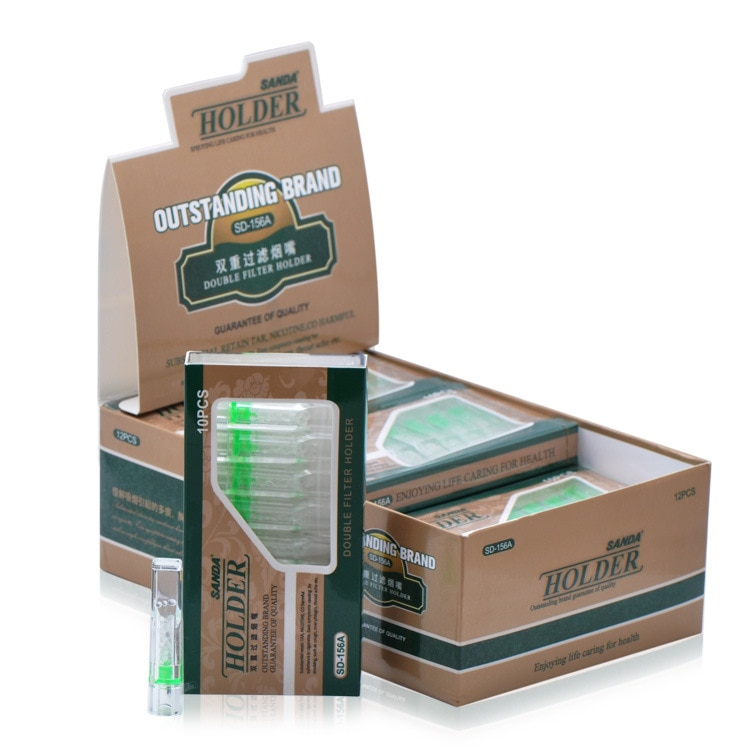 480pcs disposable Smoke Tobacco Cigarette Holder triple Filter Retain Tar healthy Smoking pipe Filter Ash Filtration mouth tip enlarge