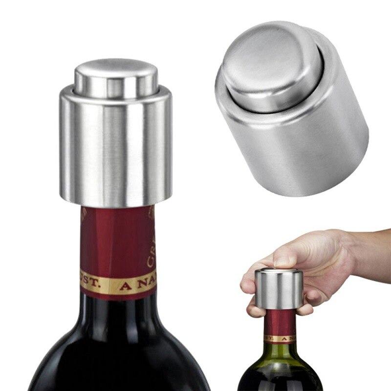 Tapa de botella de acero inoxidable tipo prensa champán tapón de vino tinto tapón de vino herramientas de preservación cubierta de botella accesorios de cocina