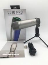 Samson C01u Pro Usb Studio Microphone Hypercardiod Real-time Monitoring Large Diaphragm Condenser Microphone Plug & Play