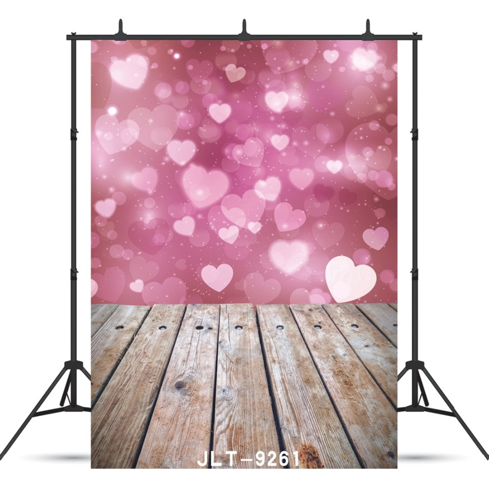 Shimmer And Shine Hearts Photographic Backdrop For Wedding  Children Baby Shower Vinyl Cloth Printed Background Photo Shoot