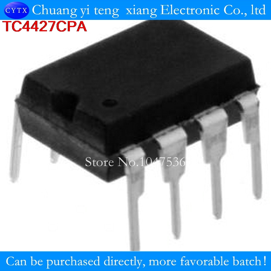 10PCS/lot TC427CPA TC427 100% good upright DIP8 high-speed drive chip